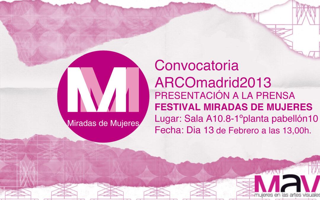 Participación al Festival Miradas de Mujeres 2013