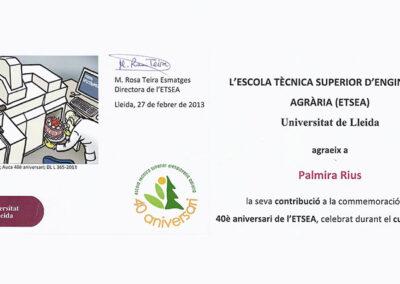 40º aniversario de ETSEA