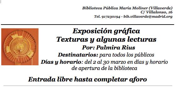 Exposición gráfica Texturas y algunas lecturas