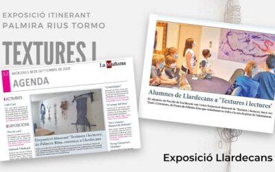 Resumen de prensa y medios de la Exposición Texturas y Lecturas – Llardecans