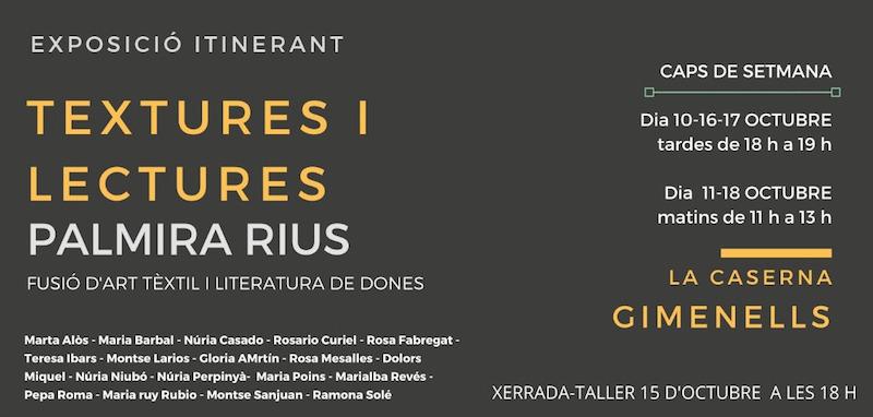 Textures i lectures – La Caserna, Gimenells