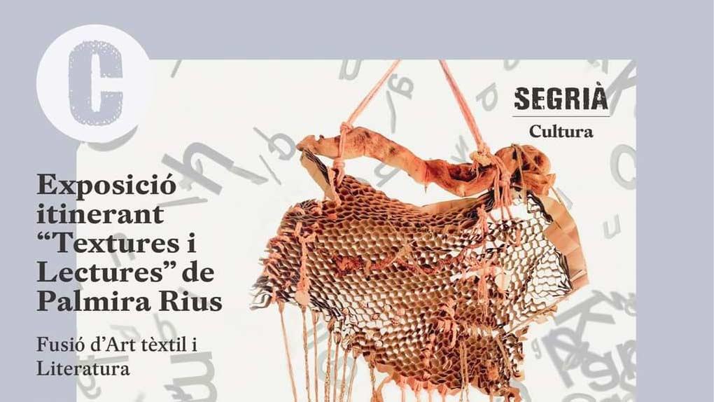 Exposición itinerante de Texturas y Lecturas en las bibliotecas del Segrià